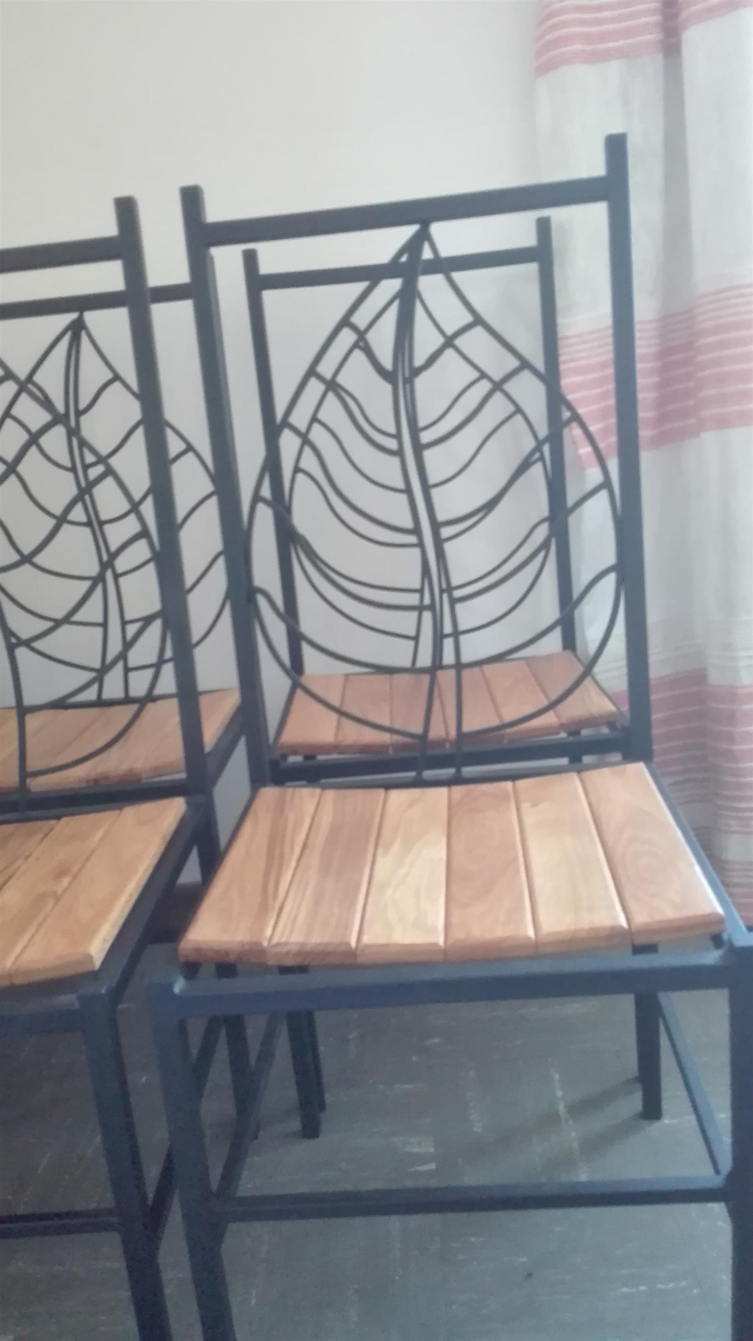 Rod iron chairs