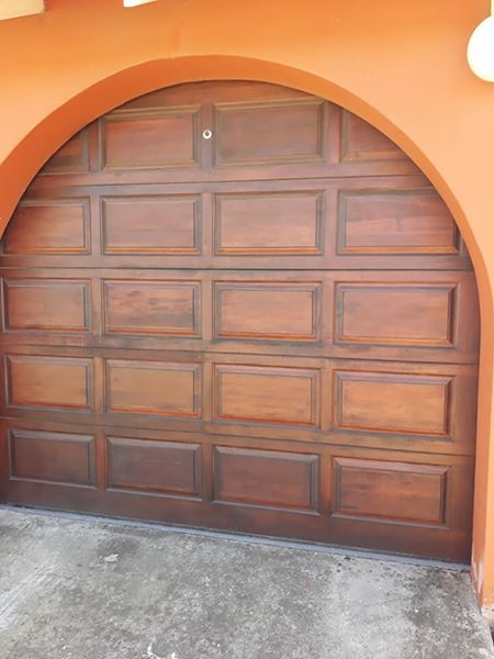 Wooden Sectional Garage Door 1 Motor For Sale Junk Mail