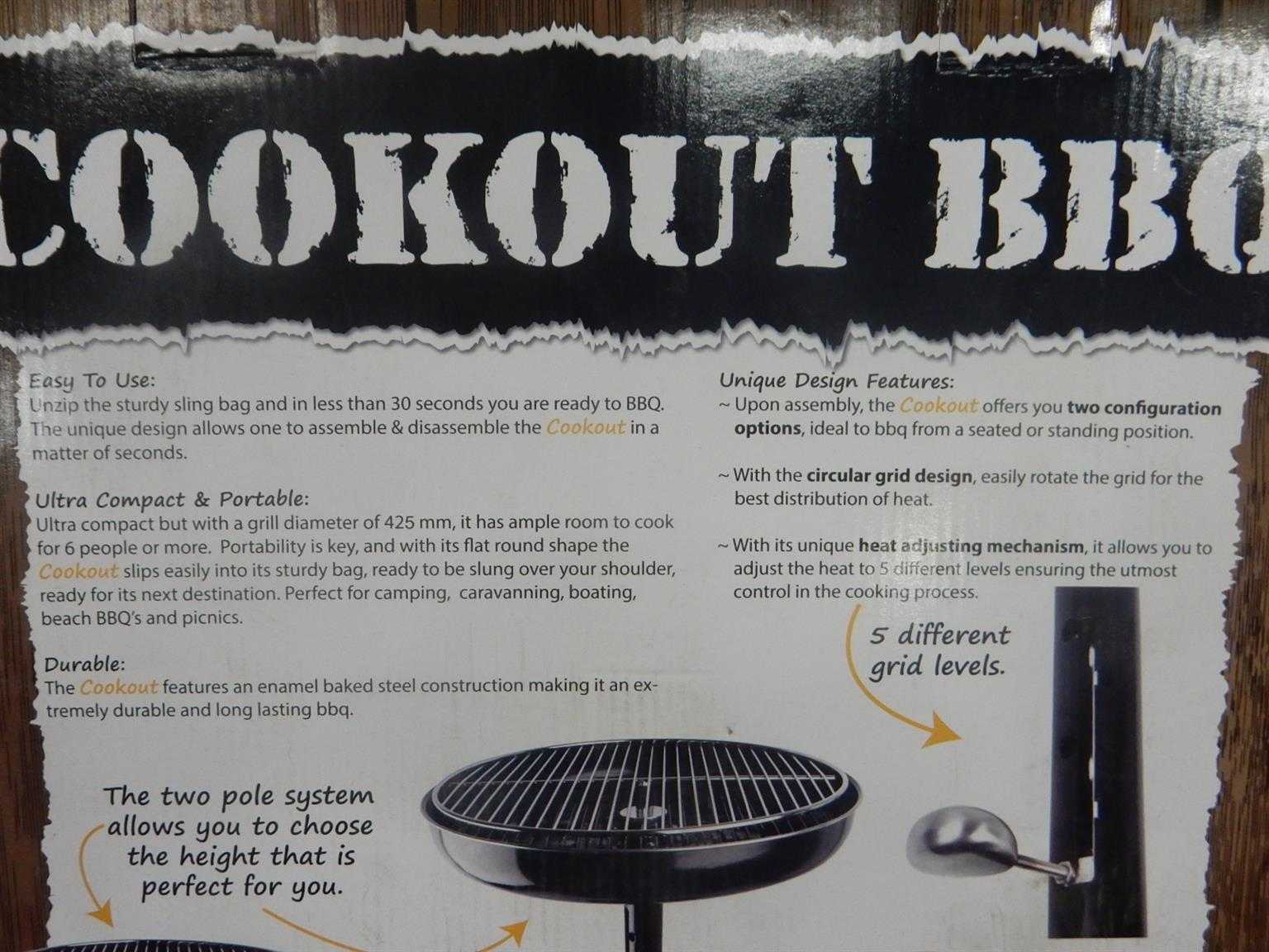 3x Cookout Portable BBQ