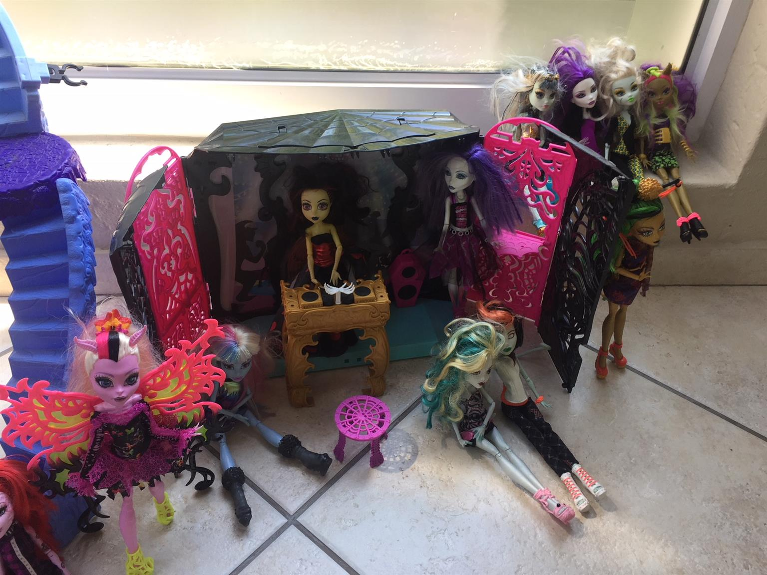 Monster High dolls Castle and more
