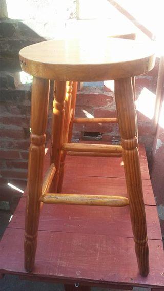 2×pine stoele