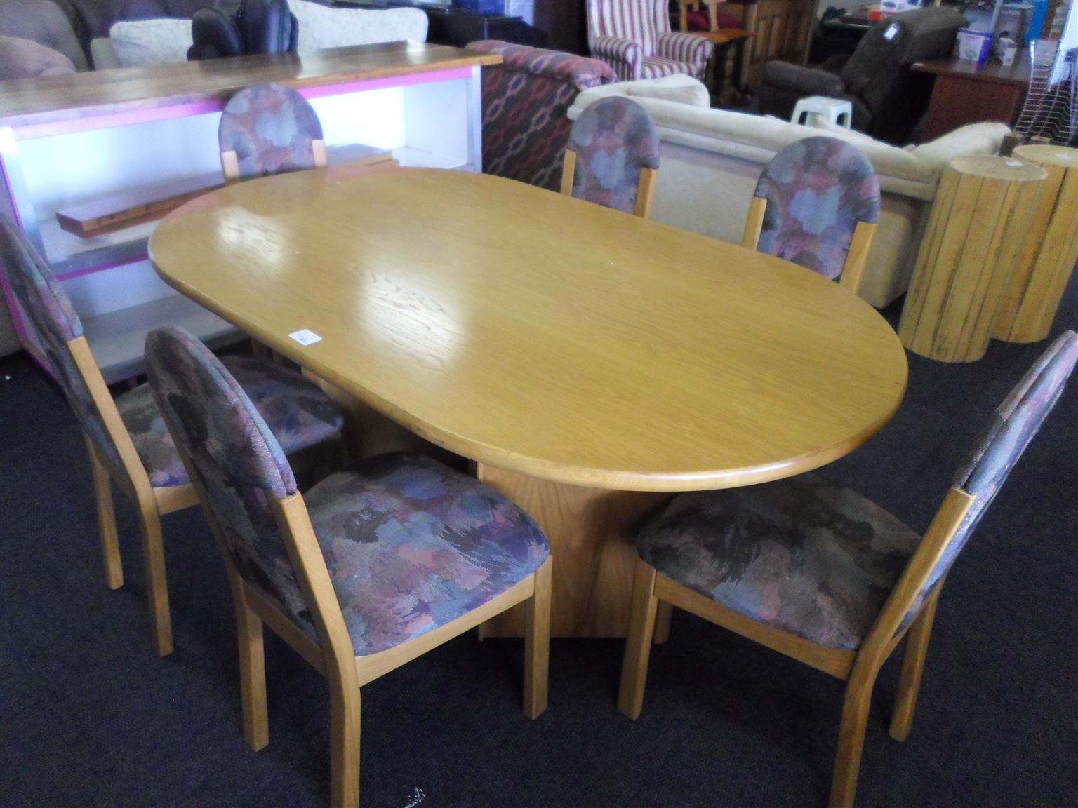 Wooden Dining Room Suite 6 Material Chairs