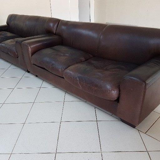 Coricraft genuine leather couches x2