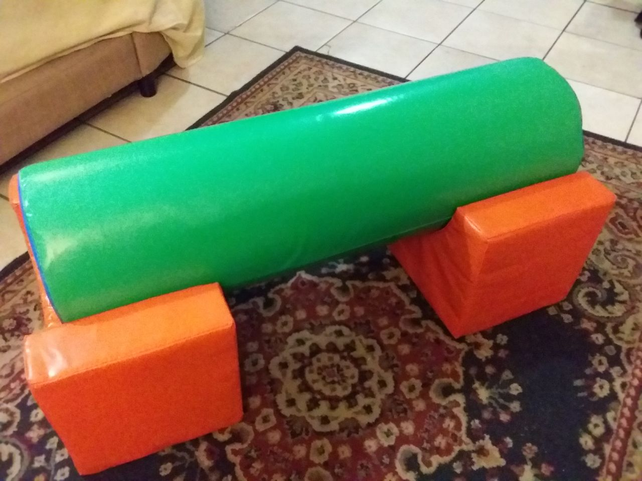 Balance Beam, Mats and Rabbit on special