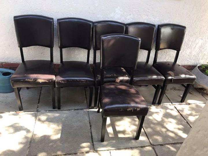 6 x dark wood Chairs