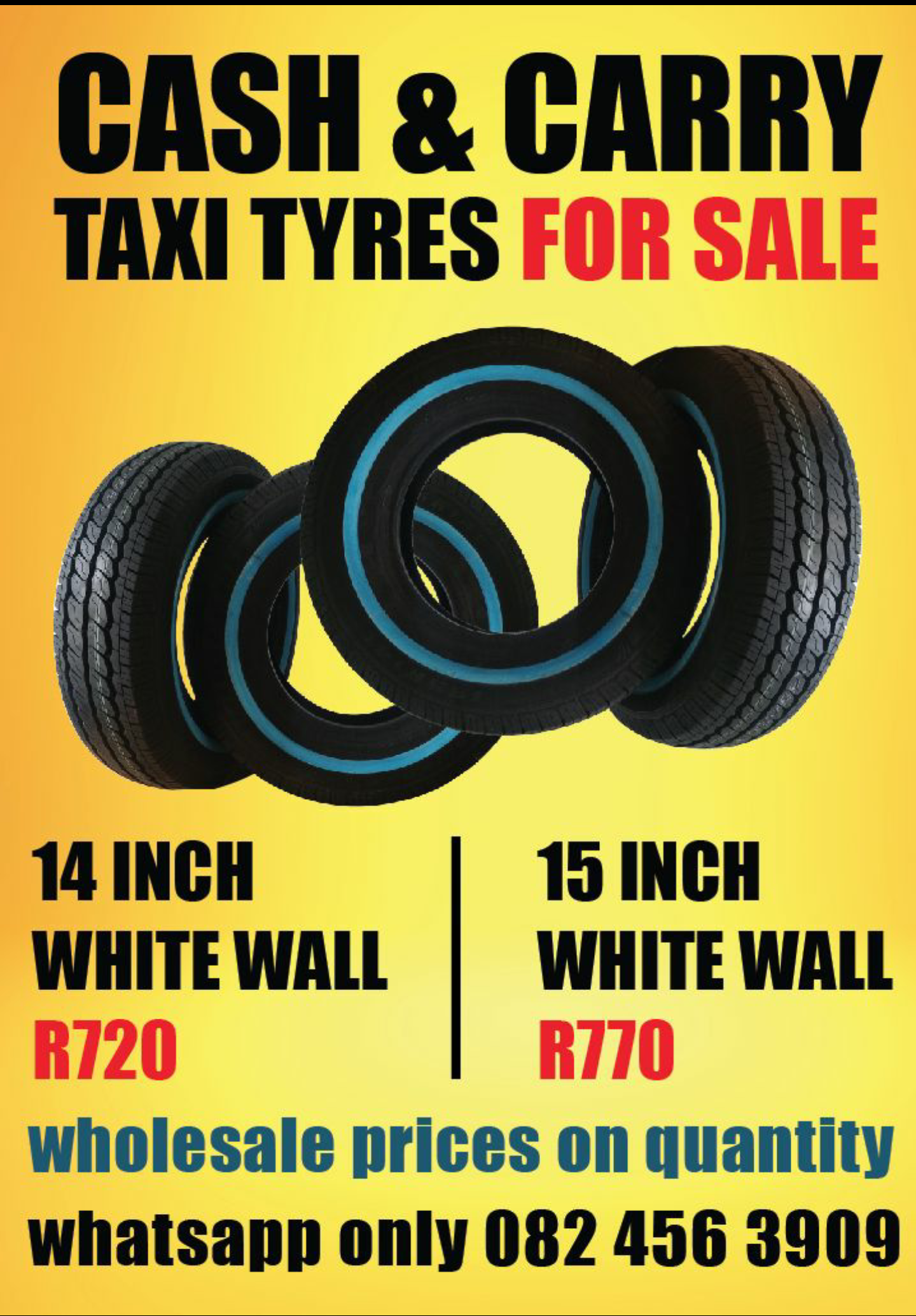 TAXI TYRES CASH & CARRY