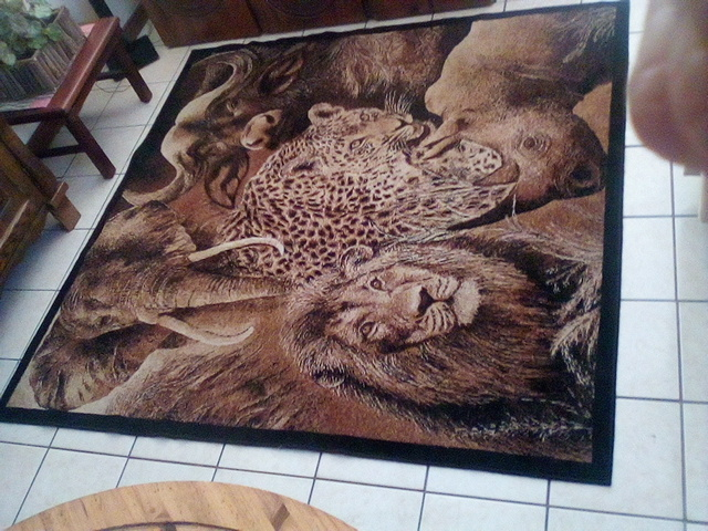 Big Five Animal Carpet  - 2m x 2m