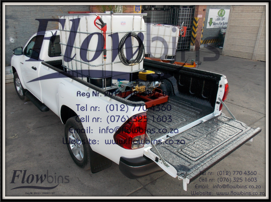 Gauteng: 1000Lt Pressure Washer 0-178 Bar adjustable - Bakkie Skid & Trailers from R11 290