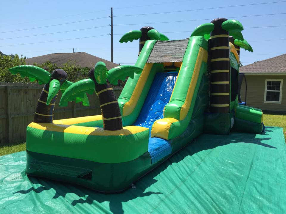 Give Your Kid A Great Present With Slide Inflatable Combo Jumping House Castle