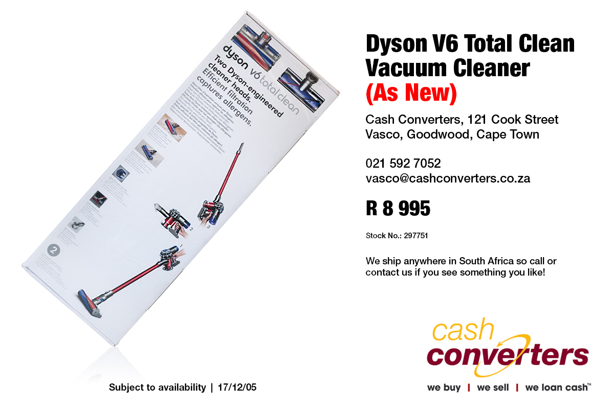 Dyson V6 Total Clean Vacuum Cleaner (As New)