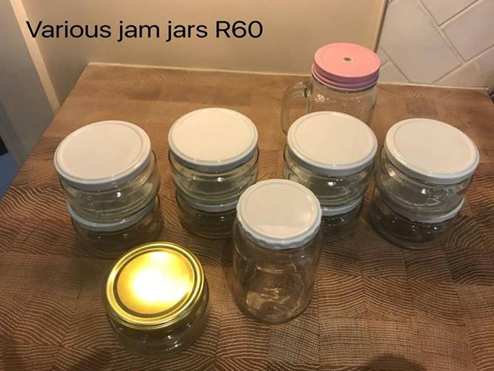 Various jam jars