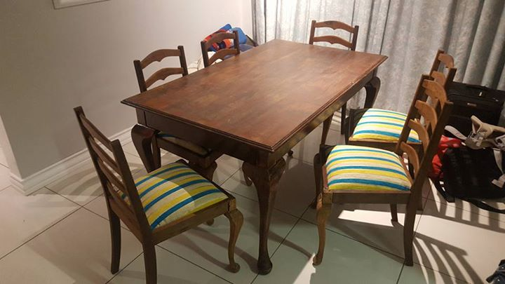 6 Seater Solid Wood Dining Suite