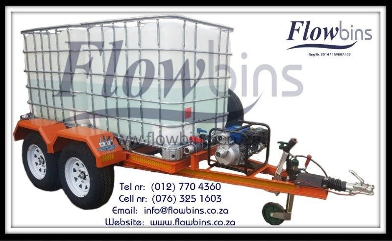 NEW 1000Lt Flowbins - Cape Town - R2699 (Flowbin adaptors, 210Lt Drums, Rain Capture, Water Bowsers)