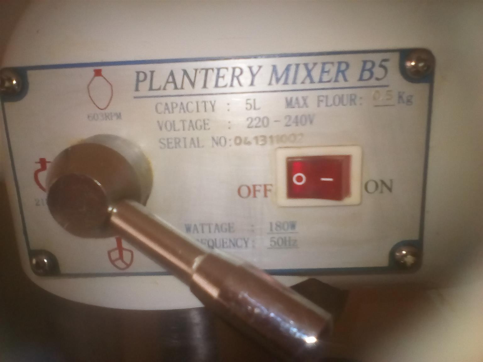 Plantery B5 mixer