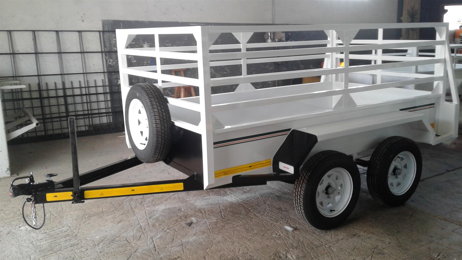 2.4M DOUBLE AXLE UTILITY TRAILER WITH BRAKES FOR SALE, ON ORDER ONLY!
