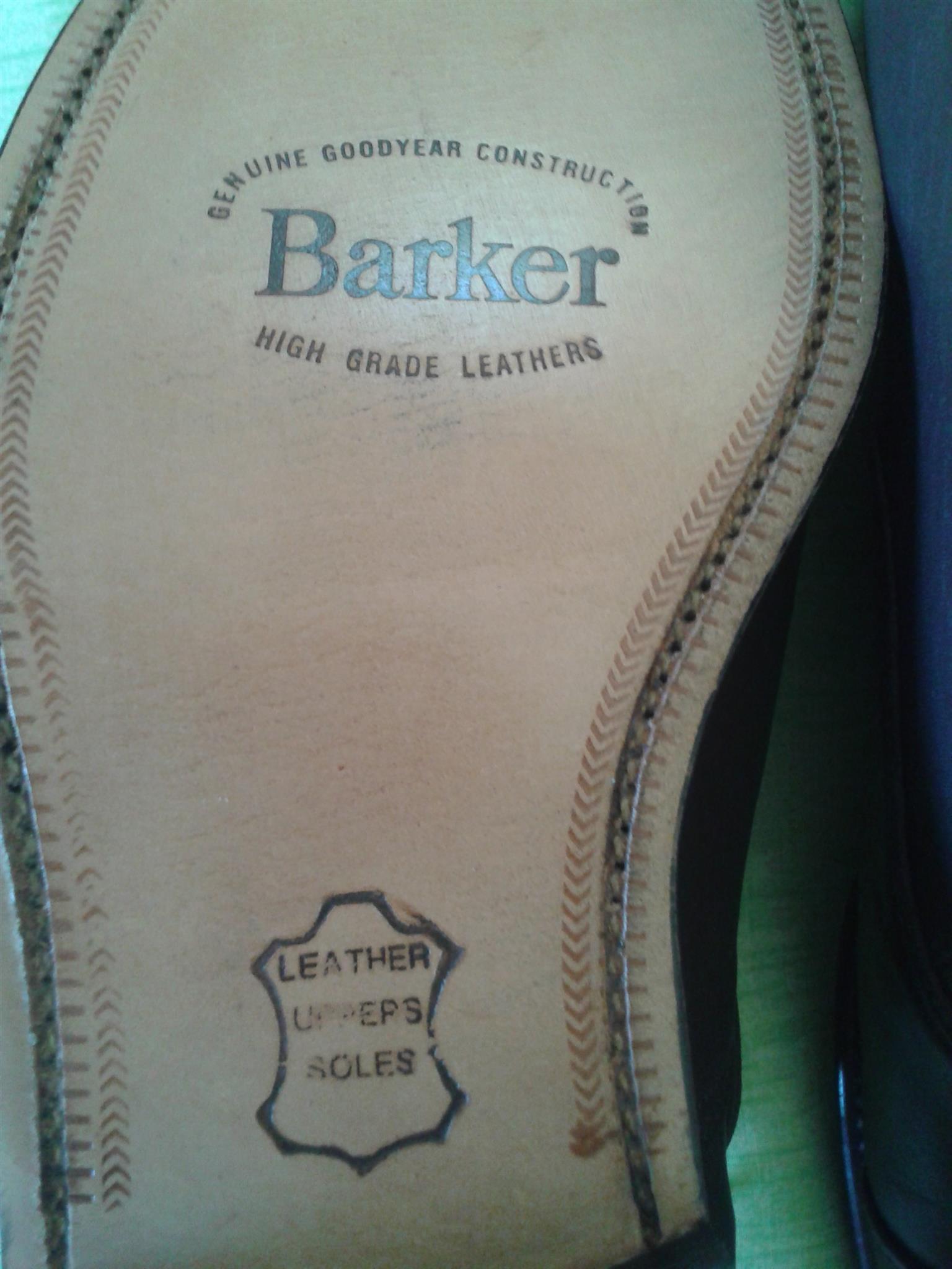 Men's Barker Brown Shoes Size 9