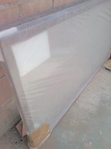 Aluminium sliding door.