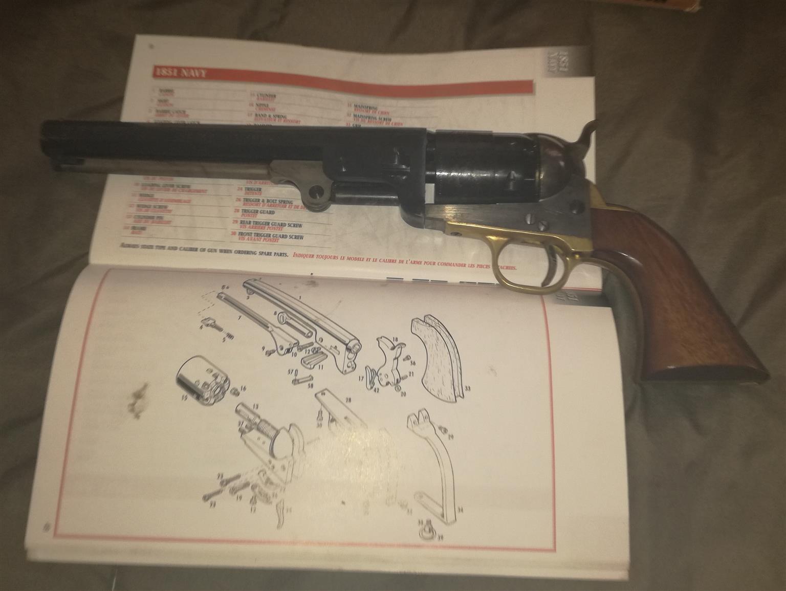 Blackpowder .44 revolver