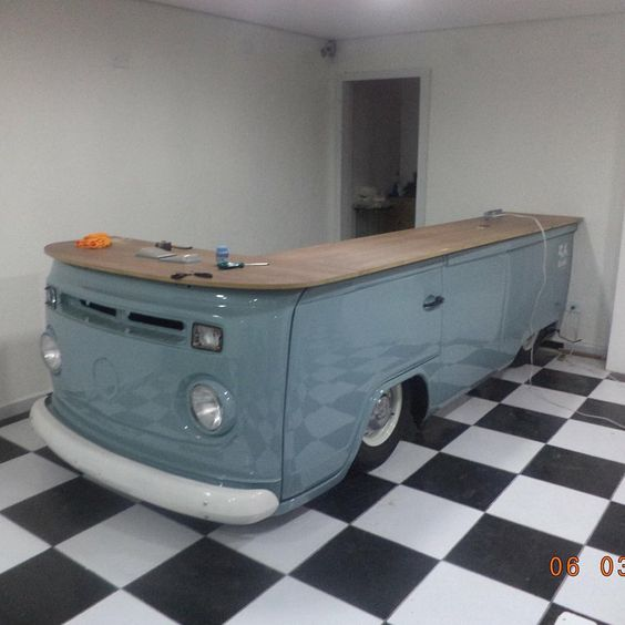 Classic VW Kombi Replica Bar/Waiting Reception/Pop Up