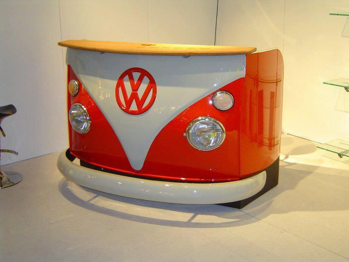 Classic VW Kombi Replica Bar/Waiting reception/Pop up Kiosk/Kiddies Bed
