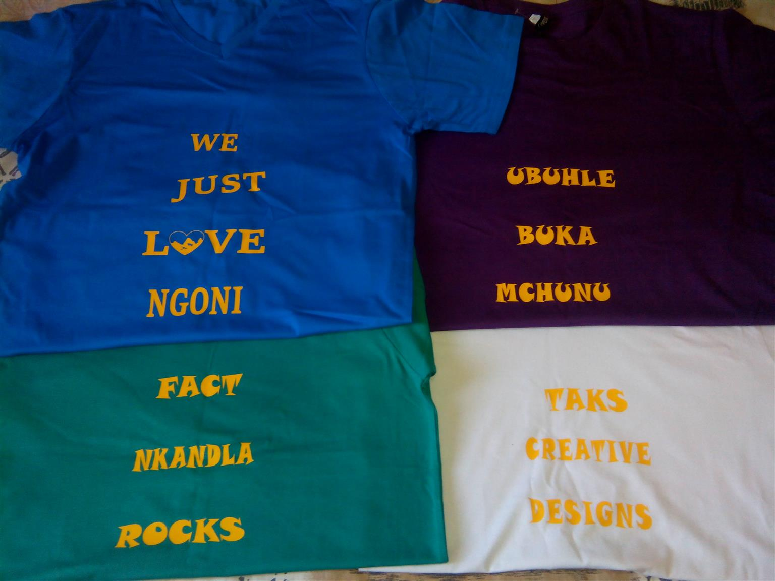 T SHIRT PRINTING in KZN
