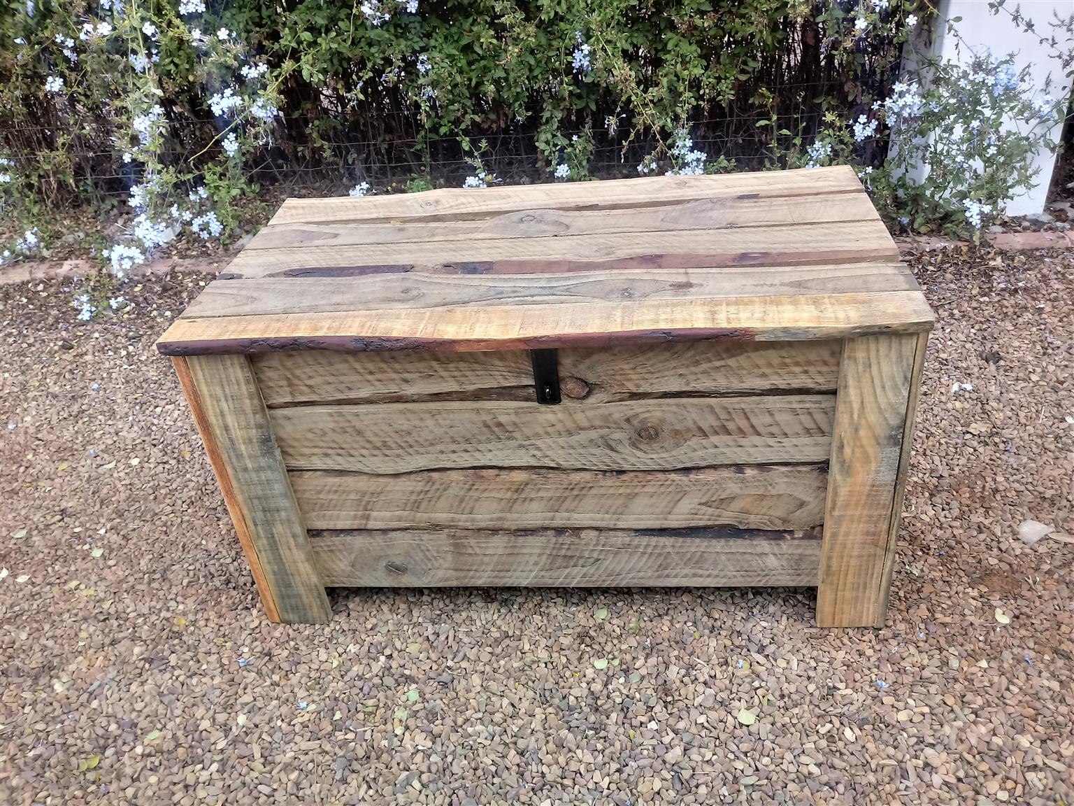 New hand-crafted pine chest