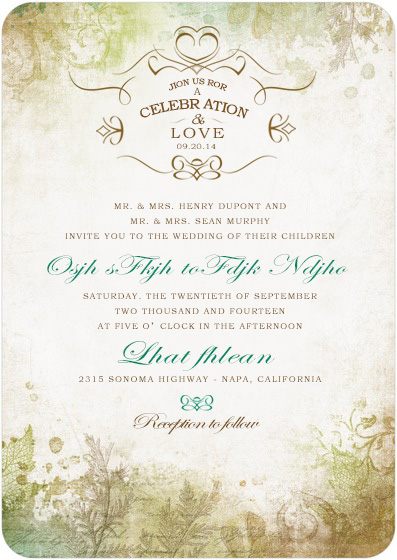 Cheap wedding invitations online with free custom service