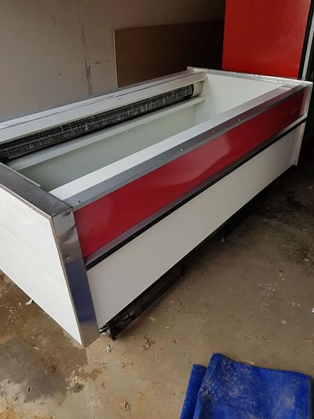 2.4m self contained Island freezer