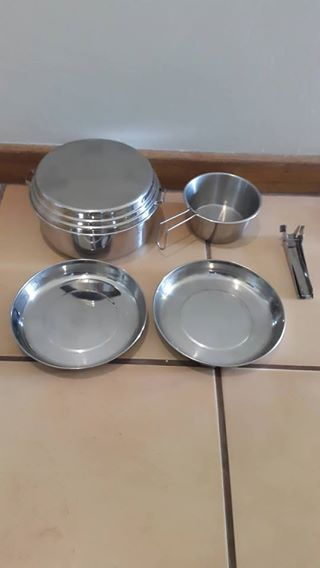 Camping pots and plates ideal for hikers