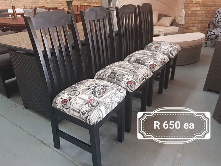 Newly upholstered dining chairs