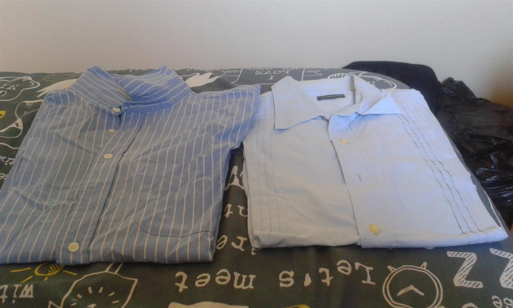 Large shirt short sleeve shirt from Woolworths
