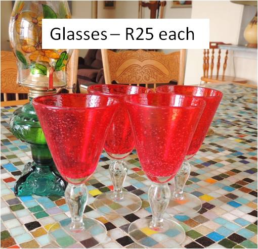 Red sherry glasses