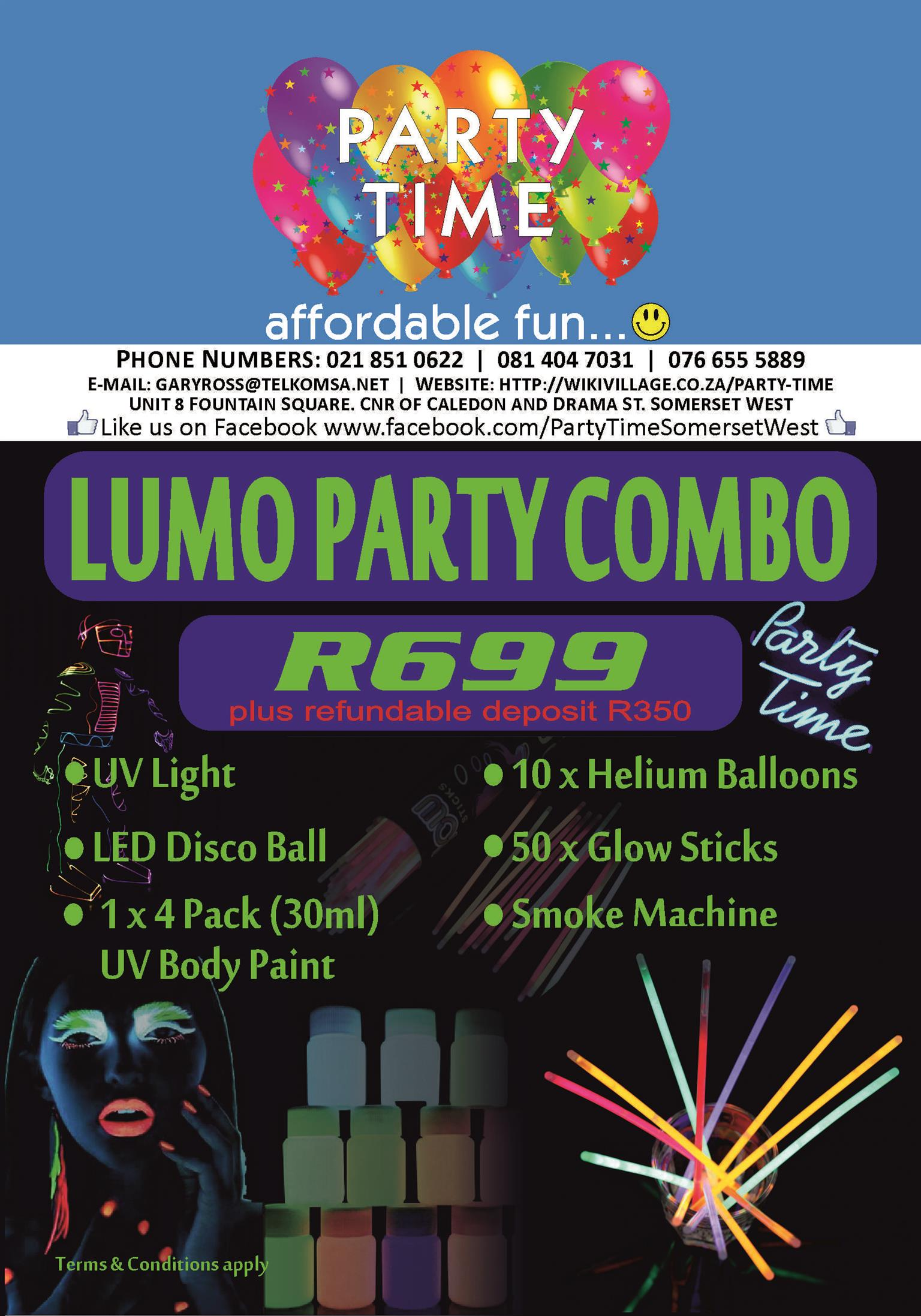LUMO PARTY KIT FOR R699!