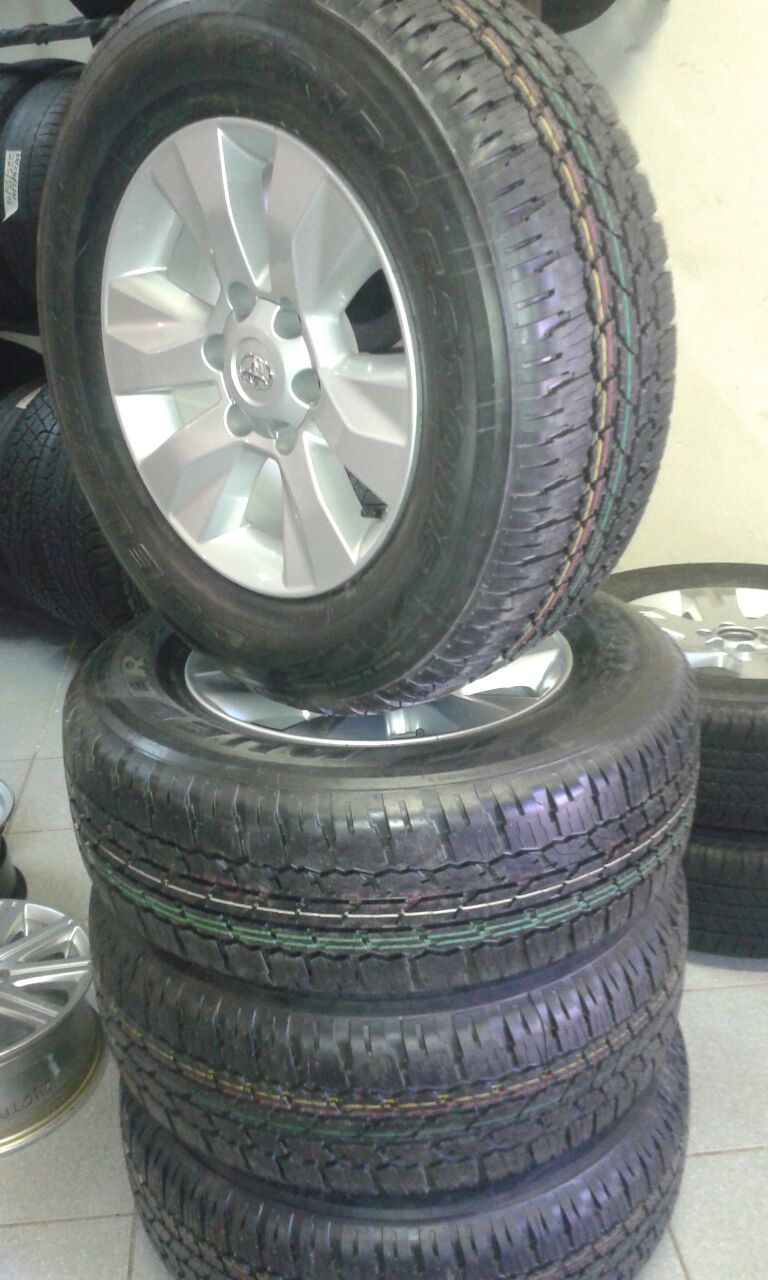 New Bridgestone dueler A/T 265/65/R17 Tyres and Mags for Toyota Hilux , for R9999 {Set of 4}