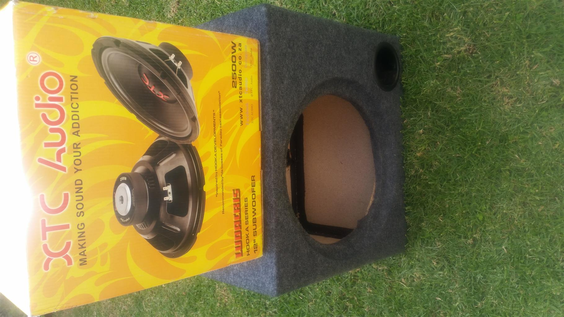 XTC 2500 watt Sub + Box