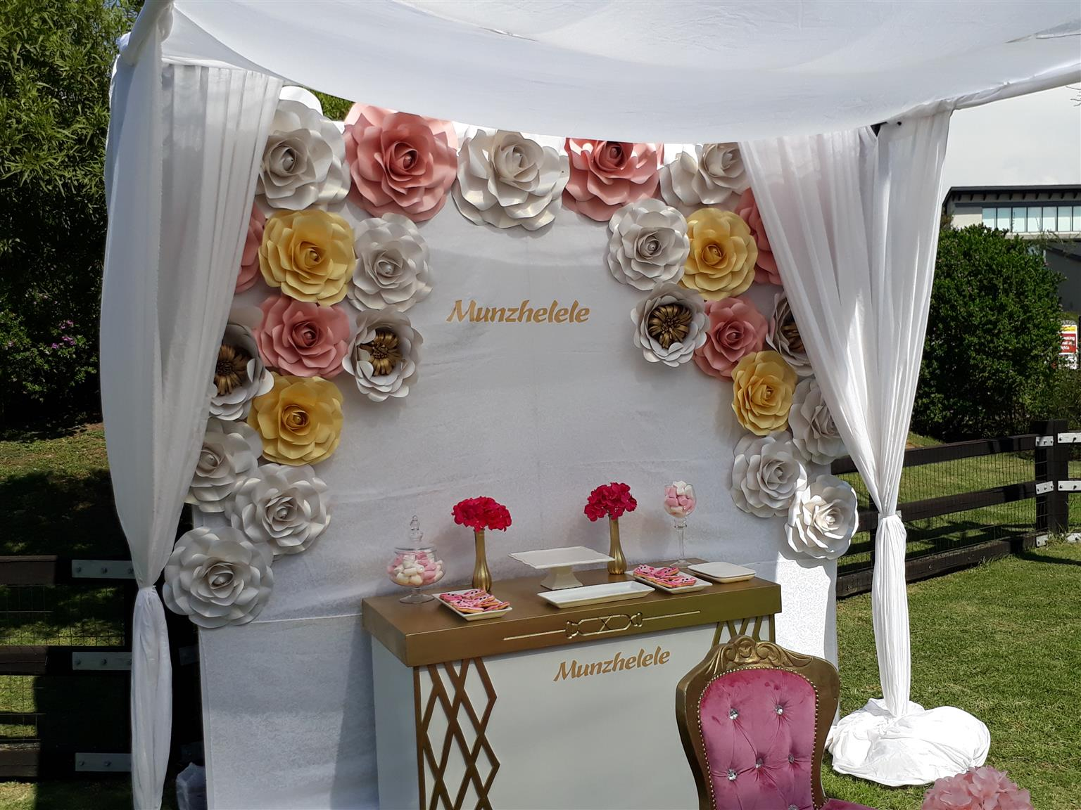 Kiddies Parties Paper Backdrops Paper Flowers Sales And Furniture