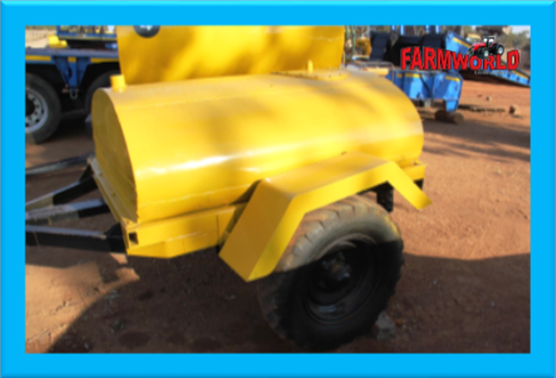 S2538 Yellow Colour Pre-Owned Trailer 1200 Litre 2 Wheel Trailer
