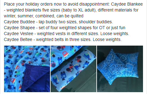 Sensory Weighted Blankets Vests Lap Buds Etc For Autistic Or Spd Disorders