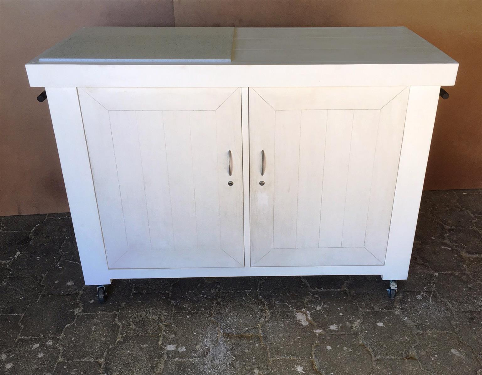 Butchers Block Farmhouse Executive series 1500 White washed