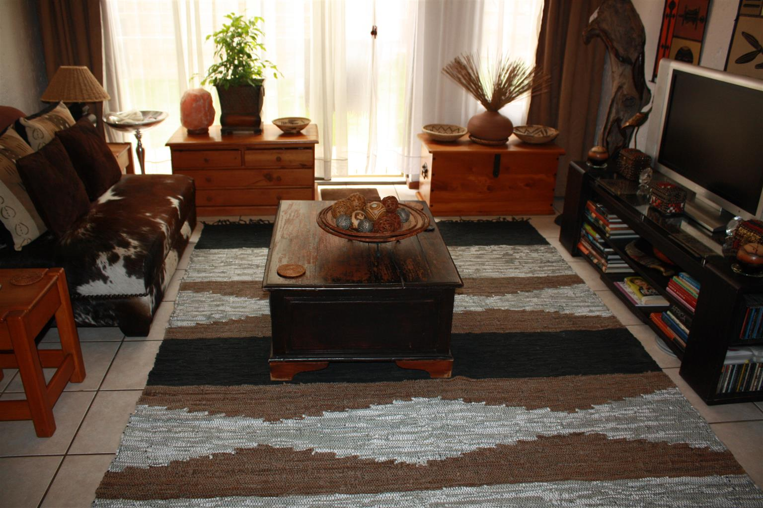 Leather Woven Carpet