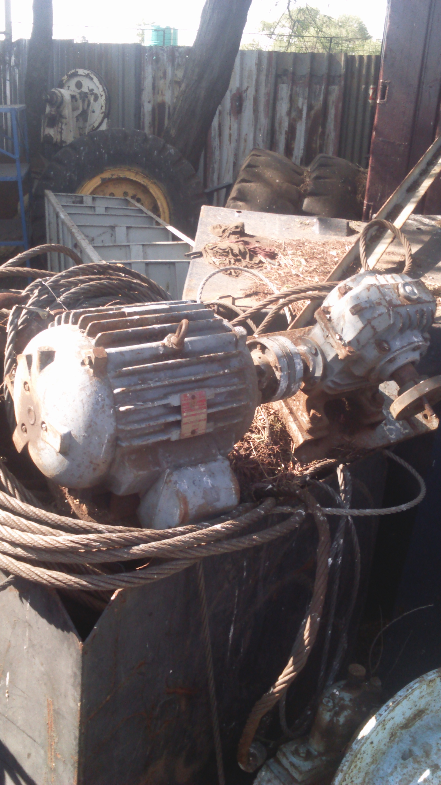 Motor and gearbox for sale