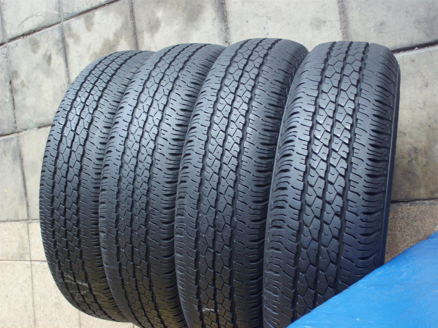 USED TYRES 60%-80%TREAD