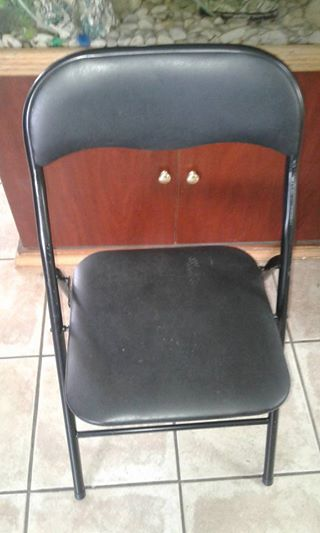 Black foldable chairs