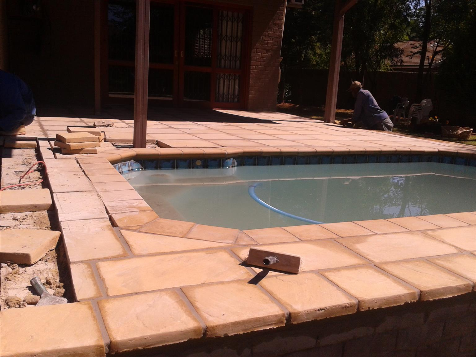 Swimming Pool paving repairs and new installations done