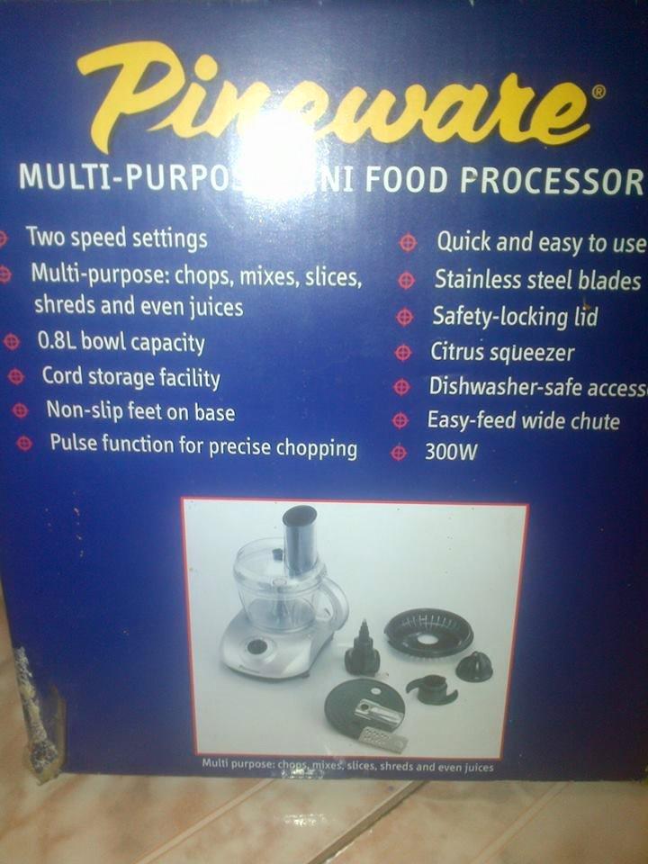 Pineware voedselverwerker te koop