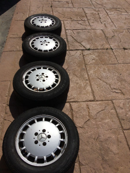 Mercedes-Benz (190, 190 E, 190 D) 1990 -1994 Rims with tyres for sale
