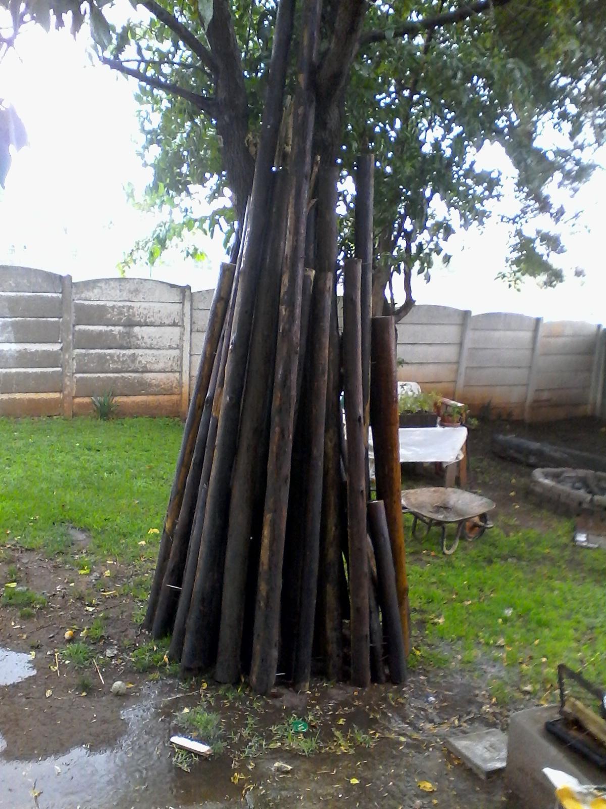 Pole structure for a 4 × 5 m lapa