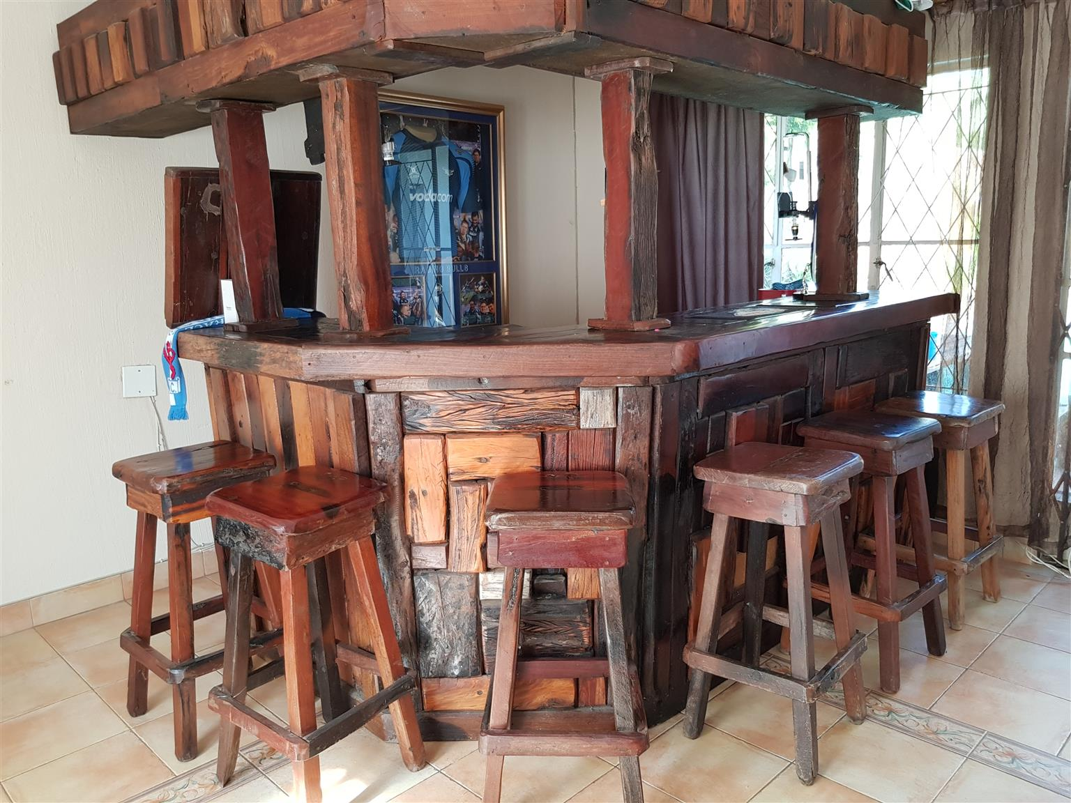 Bar (Sleeper wood) 7 seater