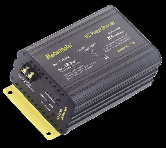 MOTORMATE 20 amp DC-DC ISOLATED POWER BOOSTER