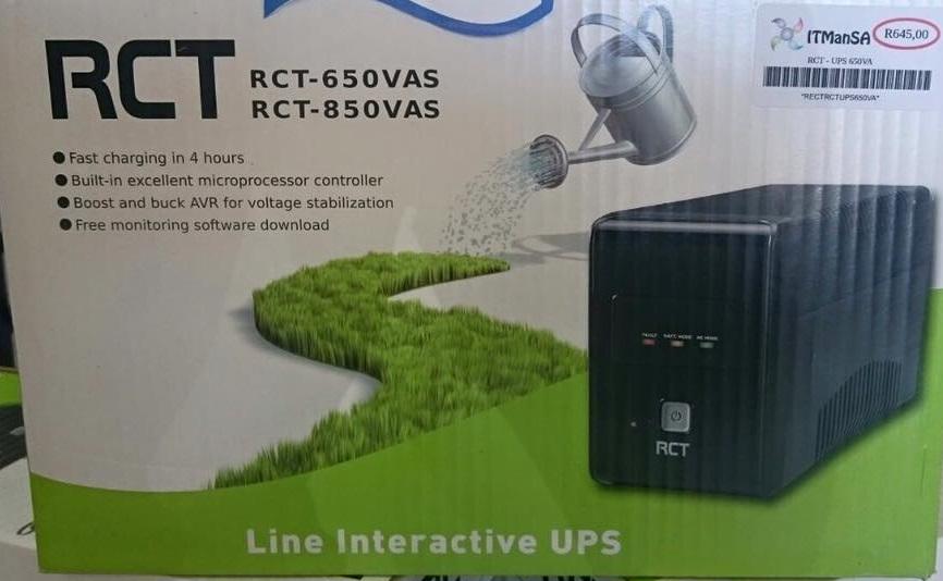 RCT 650va Line Interactive Ups